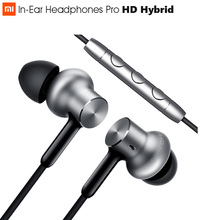 Originele Xiao mi hybrid Pro Hd OORTELEFOON Tri driver Dual Dyna Mi c + balanced armature Mi In Ear Headset pro HD Wired Controle