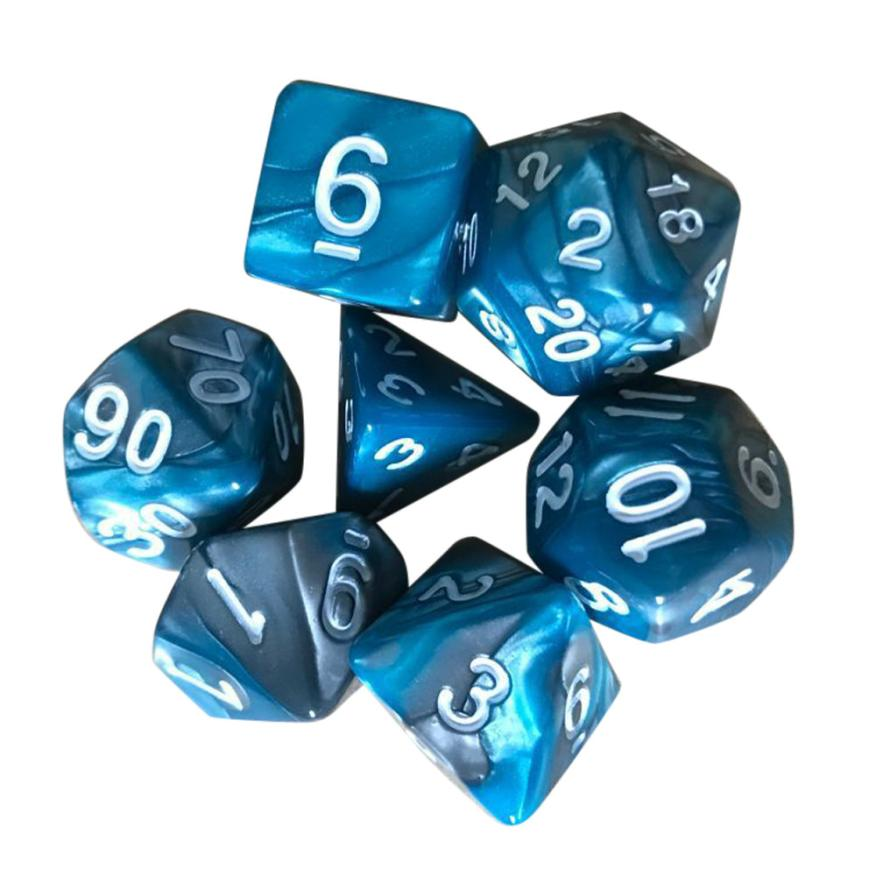 7pcsSet-TRPG-Game-Dungeons-Dragons-Polyhedral-D4-D20-Multi-Sided-Acrylic-Dice-Q40-AUG28-3