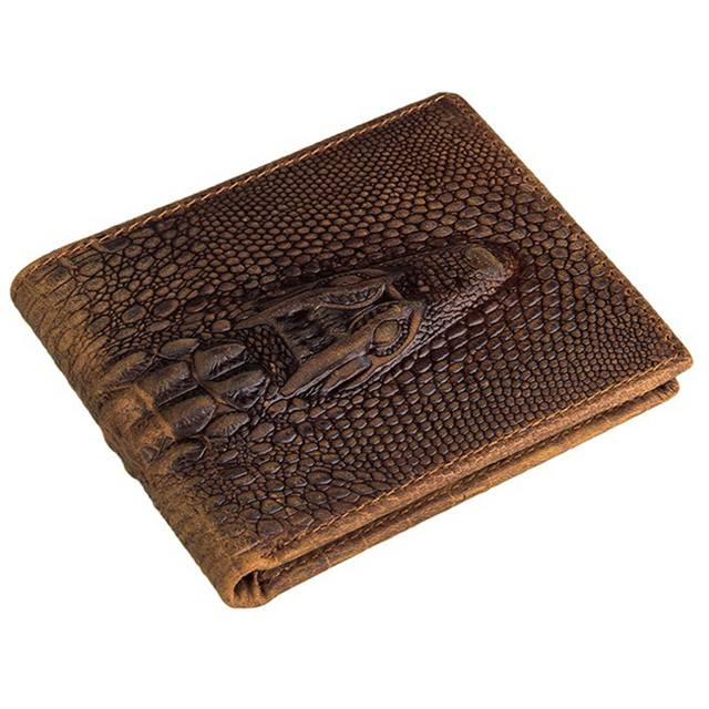 2aeefbdb5d US $15.45 |Fashion crocodile wallet leather purse Top Quality mens wallets  brand luxury male monederos money crazy horse purses Best !-in Wallets from  ...