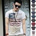 men's t-shirts casual Design Fashion t-shirt fling Tops Tees Short Sleeve O-Neck brand new 6 Colors ali shirts TX82-F