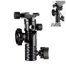 "HPUSN Universal Metal Mount Flash Hot Shoe Adapter 1/4"" & 3/8"" for Trigger Umbrella Holder Swivel Light Stand Bracket L2"