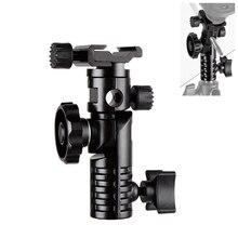 "Hpusn Universele Metalen Mount Flash Hot Shoe Adapter 1/4 ""& 3/8"" Voor Trigger Umbrella Holder Swivel Light Stand beugel L2"
