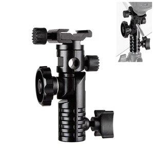 """Image 1 - Hpusn universal metal montagem flash sapato quente adaptador 1/4 """"& 3/8"""" para gatilho guarda chuva titular giratória suporte de luz l2"""