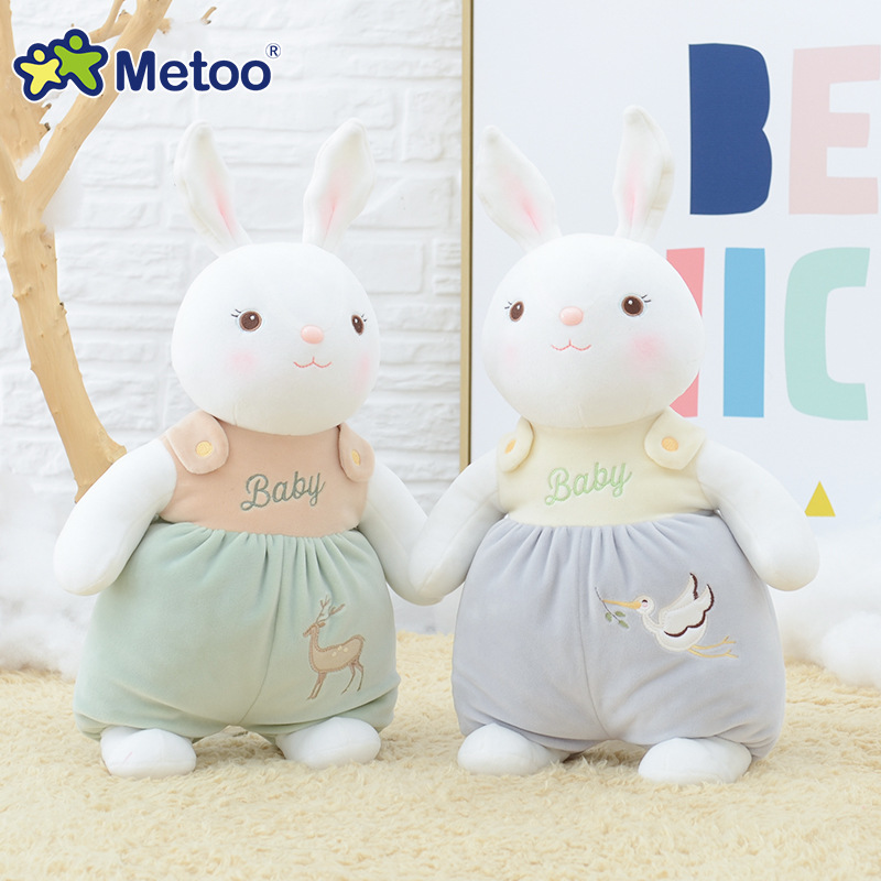 39cm Plush Sweet Cute Lovely Stuffed Baby Kids Toys for Girls Birthday Christmas Gift Tiramitu Rabbits Mini Metoo Doll 13 inch kawaii plush soft stuffed animals baby kids toys for girls children birthday christmas gift angela rabbit metoo doll