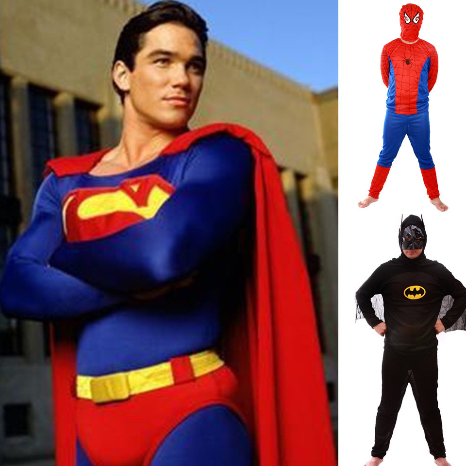 aliexpresscom buy hot sale halloween fashion adult superman spiderman batman party superhero cosplay costume suit super man superheros costumes from - Sale Halloween Costumes