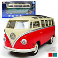 Envío libre volkswagen vw bus 1:24 aleación de modelos de coche de juguete diecast colección por los niños como regalo de juguetes a estrenar