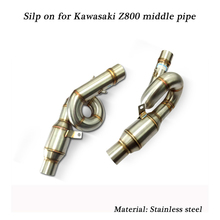 51mm Motorcycle Stainless Steel Middle Connecting Pipe Silencer System Silp on for Kawasaki Z800 any year