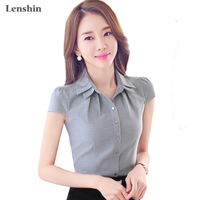 Casual Style New Fashion Short Sleeve Blouse Tops Women Summer Office Ladies