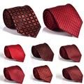 2016 flaco estrecho lazo masculino mariage kravat papillon hombre plaid corbata delgada corbata roja formal de la boda corbata de alta calidad