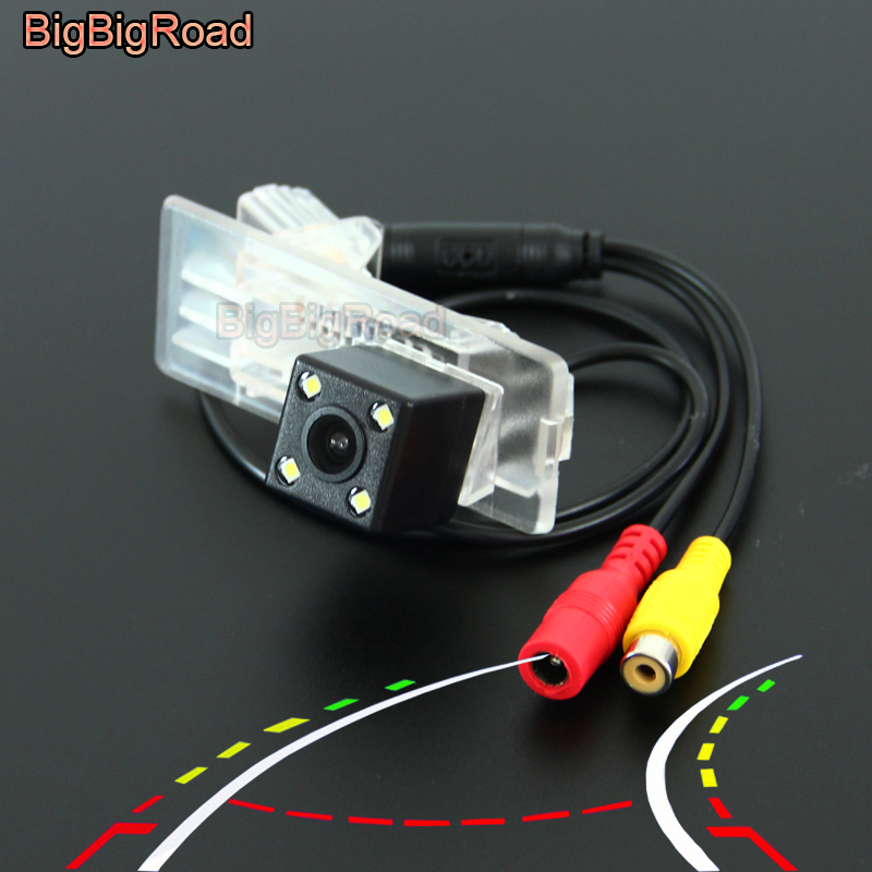 BigBigRoad Car Intelligent Dynamic Trajectory Tracks Rear View CCD Camera For Renault Fluence Duster / Dacia Duster 2010 -2014 chic cross heart necklace for women