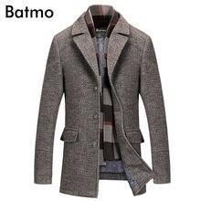 Batmo 2019 yeni varış kış yüksek kaliteli yün rahat gri trençkot erkekler, erkek kış sıcak tutan kaban, kışlık ceketler erkekler 823
