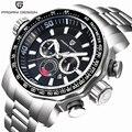 Pagani Projeto Relógios Militares Homens Luxo Marca Completa de Aço Inoxidável Grande Mostrador Relógios Relogio masculino Homens Relógio Do Esporte