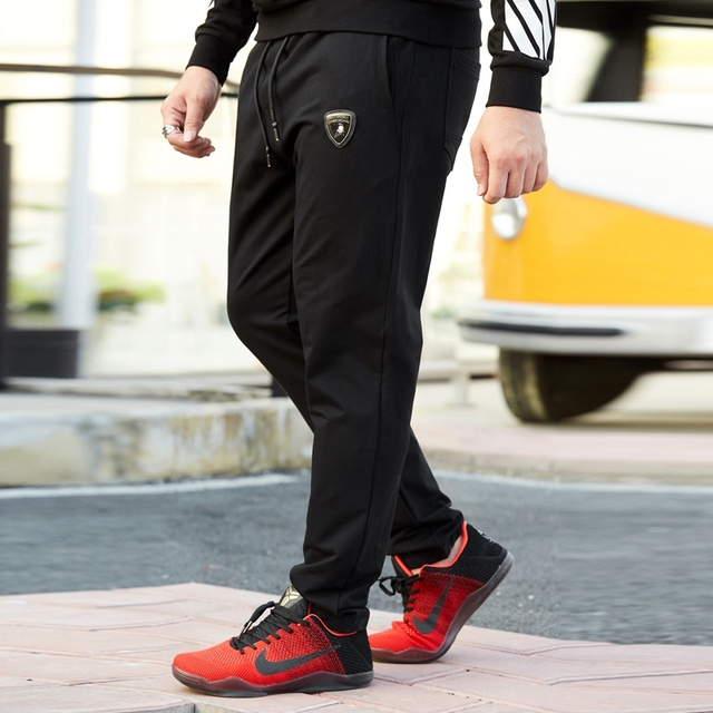 Big size men's plus size clothing casual trousers straight loose male pants plus size  wei pants 6XL 5XL 4XL