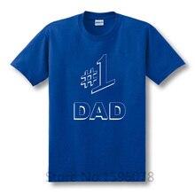 Jednoduché tričko s krátkým rukávem a nápisem  #1 DAD