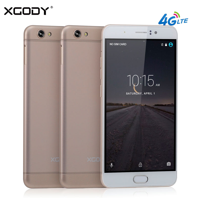 XGODY Y16 6.0 Inch 4G Smartphone Android 6.0 1GB RAM 8GB ROM Quad Core Dual SIM Cards 5MP+13MP GPS WiFi Unlocked Cell Phones