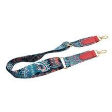 Для женщин леди красочные хлопок бохо цепи заклепки ремень для сумка сумочка