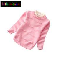 Autumn Winter Girls Cardigan Turtleneck Cotton Princess Pearl For Baby Girl Kids Clothes Children S Sweater