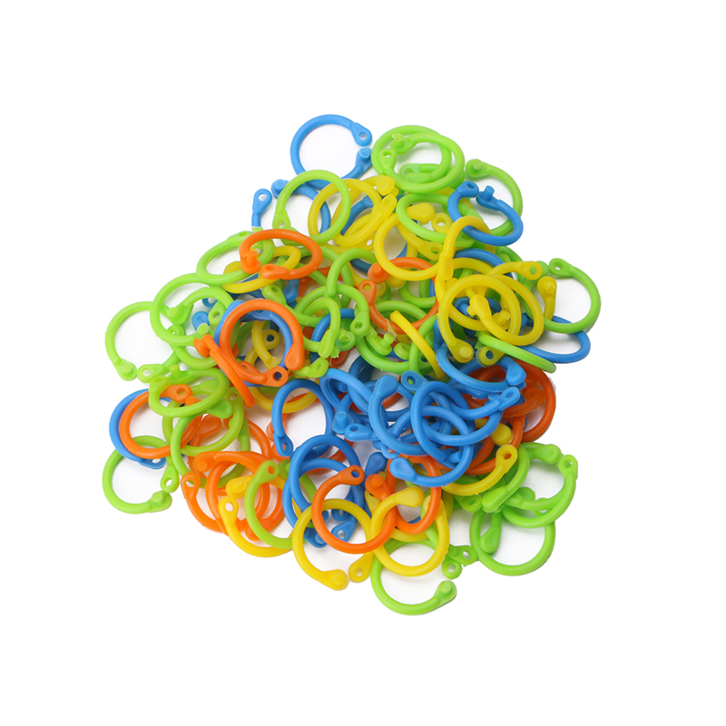 100Pcs/Pack Colorful Knitting Stitch Markers Crochet Locking Tool Craft Ring Marker
