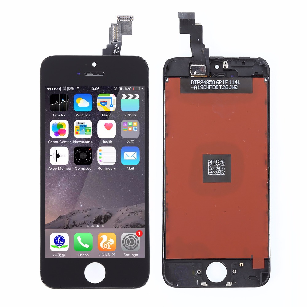 NEW LCD Replacement For Iphone 5C lcd screen display with Touch Screen digitizer Assembly , Black ,free shipping