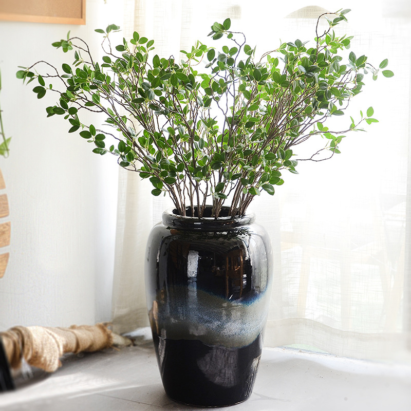 Artificial Flower Leaf Green Plant Branches Simulation Branch Artificial Plant Leaves Wedding Decorative Bouquet DIY material (2)