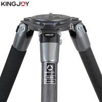 Kingjoy 공식 a65/a68 탄소 섬유 카메라 삼각대 스탠드 tripe monopod dslr 모든 모델 용 movil flexible stativ slr dslr-에서삼각대부터 가전제품 의