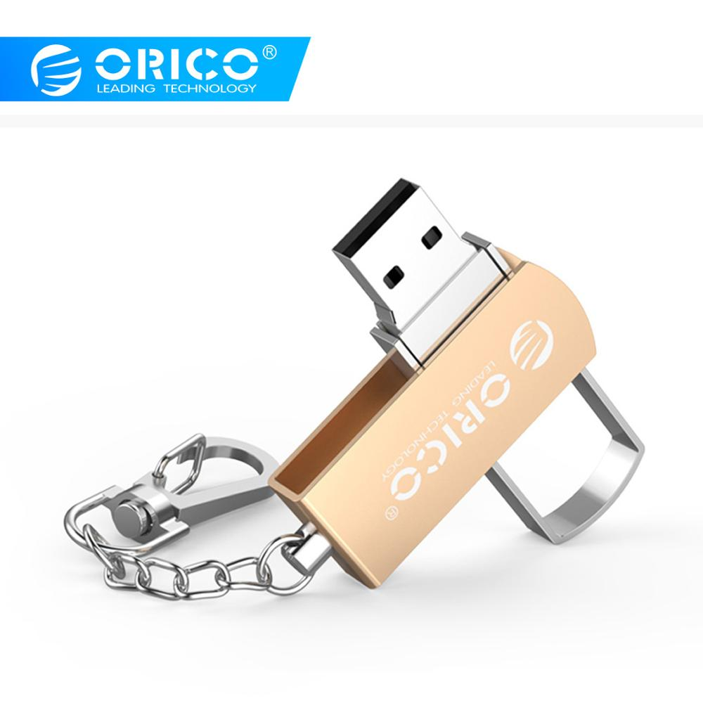 ORICO U Disk USB 2.0 Flash Drive 64GB 32GB 16GB USB Pendrive Zinc Alloy with Key Ring Support For Mobile Phone Computer image