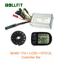 36V46V350W Controller 17A LCD5 Kleur Display Pas Set E-Bike Conversie Kit Hall Sensor