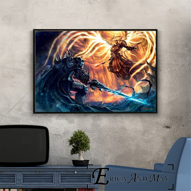 Lich King WOW Game Artwork Vintage Posters and Prints Wall art Decorative Picture Canvas Painting For Living Room Home Decor  2