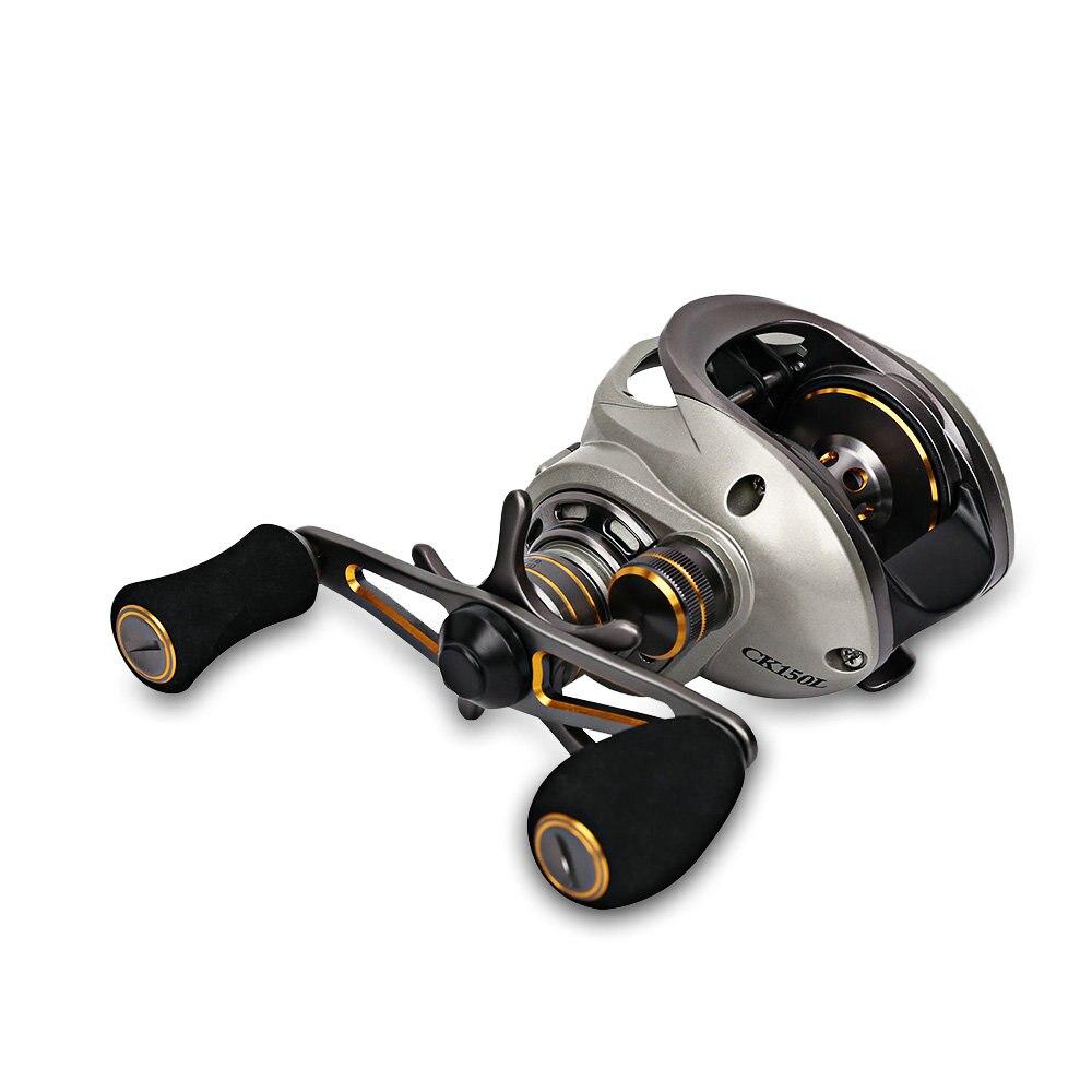 TSURINOYA CK150 9 + 1BB 6.6: 1 moulinet de pêche double systèmes de frein léger 190g bobine Durable filature moulinet de pêche YL-31