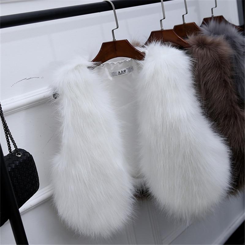 c4a35ebfbc1de GOPLUS 2019 Nieuwe Winter vrouwen Faux Vos Bont Vest Lange Harige Shaggy  Vrouw Nep Bont Vest Mode Plus Size bont Vesten Hoge Kwaliteit in GOPLUS  2019 Nieuwe ...