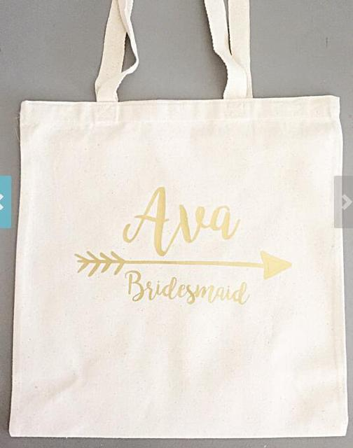 Glitter Set Of 5 Bridesmaid Tote Bags Personalized Names Champagne Party Wedding Gift Bachelorette Bridal