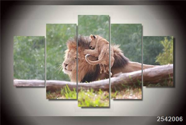 Hd Printed Animals Lions Painting On Canvas Room Decoration Print Poster Picture Canvas Free Shipping/Ny-1900 Christmas gift
