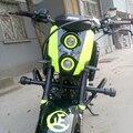 Verde fluorescente 12 V MSX125 Custom Carenado Kawasaki motocicleta streetfighter faros