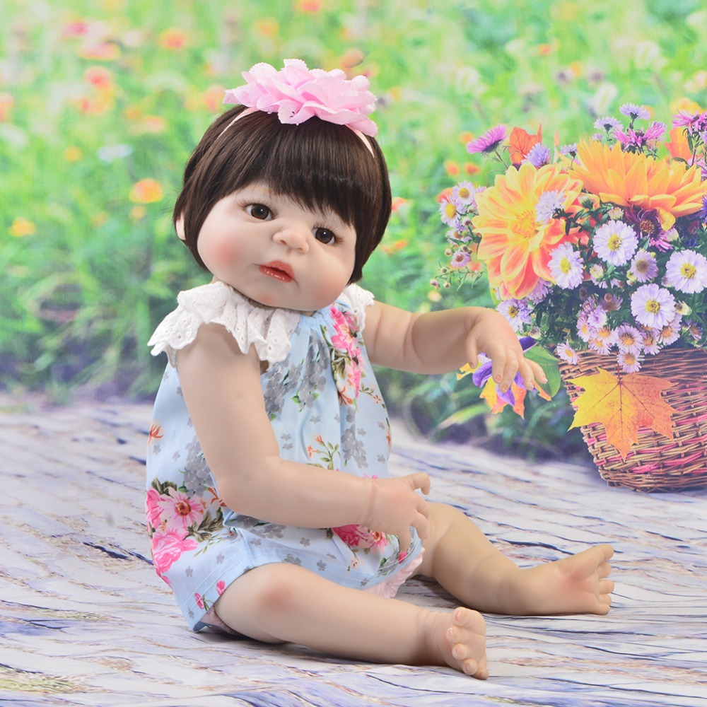 KEIUMI White Skin Princess Reborn Baby Dolls Full Body Silicone 23 INCH Realistic New Born Baby Doll For Kids Summer Playmates keiumi 23 inch reborn baby doll full body silicone princess babies girl real like new born doll boneca reborn kids playmates