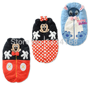 Mickey Minnie Baby Sleeping Bags Children's Sleepsacks Free Shipping Polka Dot Girls Sleepwear
