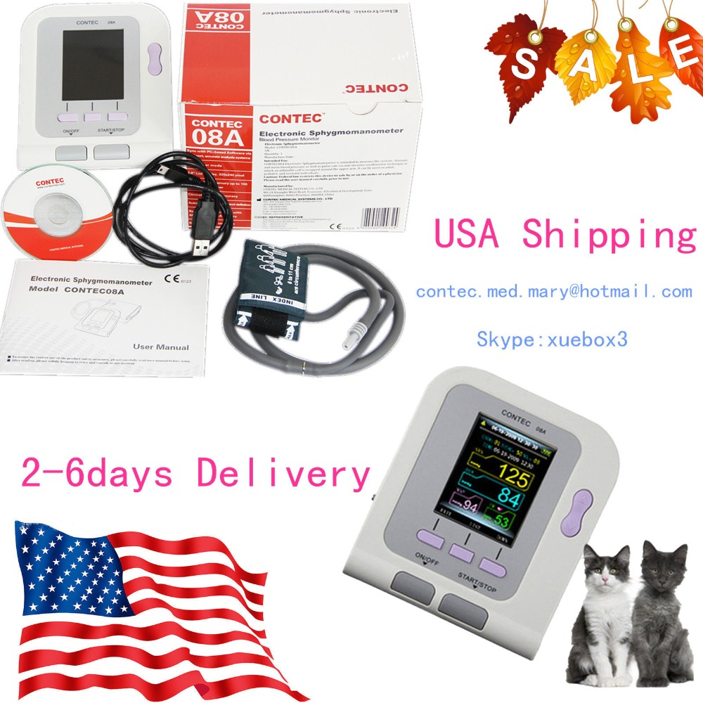 digital Blood Pressure Heart Beat Monitor NIBP (Ship from US) CONTECMED FDA Vet Veterinary OLED gerber 130 1