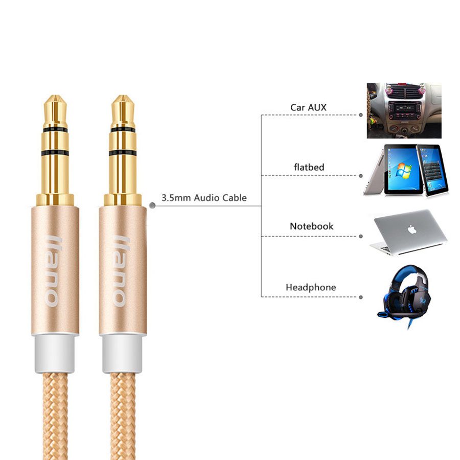 3.5mm Jack AUX Car Audio Cable High Quality Gold Plated Kabel ...