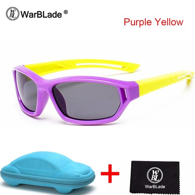 518ff701eaa9f Warblade bebé polarizadas Gafas de sol niños niño Niñas Niños deporte gafas  tr90 Polaroid Sol Gafas sombras infantil lentes con funda