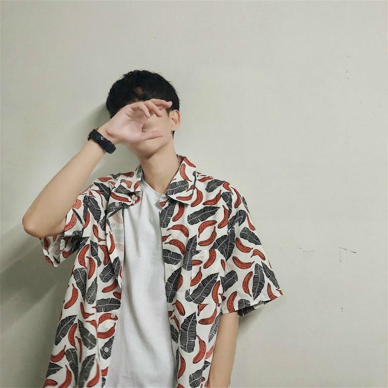 Courtes 2018 Nouveaux Chemises Manches Été À Hommes De Marée Mode FtTqwt