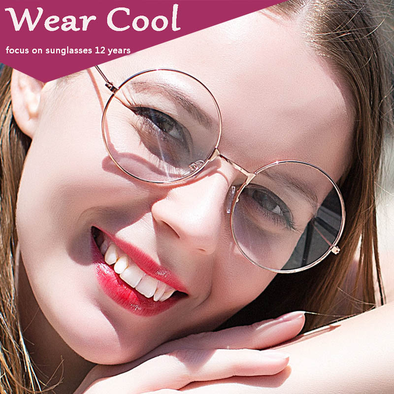 c391035b3a WEAR COOL Fashion Vintage Retro Metal Frame Clear Lens Glasses Nerd Geek  Eyewear Eyeglasses Oversized Round Circle Eye Glasses-in Eyewear Frames  from ...