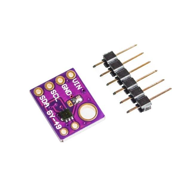 10 Pz/lotto GY 49 MAX44009 Ambiente Modulo Sensore di Luce per Arduino con 4P Spille Intestazione Modulo