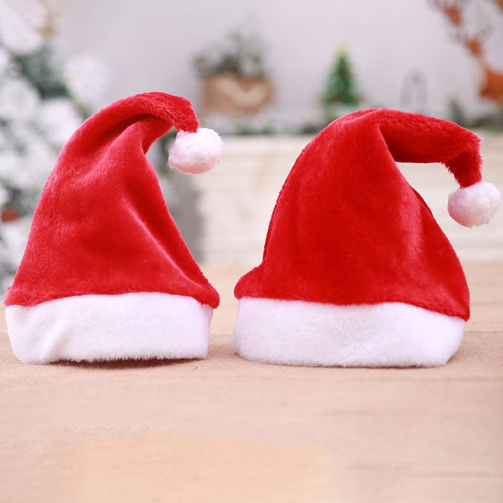 Home & Garden Supply Navidad Noel Baby Boy Girls Mini Plush Santa Snowman Hat Chrismas Applique Cartoon Cap Hat Decoration Natal Party New Year Gift