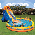 2016 commercial inflatable summer swimming pool for adults and kids/outdoor playground inflatable water slide