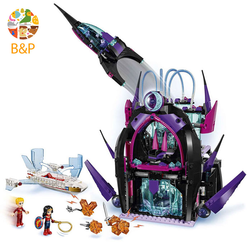 lepin Legoing 41239 1093pcs Super hero girls Eclipso Dark Palace Model Building Blocks Brick Toys For Children Gift 29010 lepin 29010 1093pcs genuine superhero series the eclipso dark palace set educational building blocks bricks toys friends castle page 3