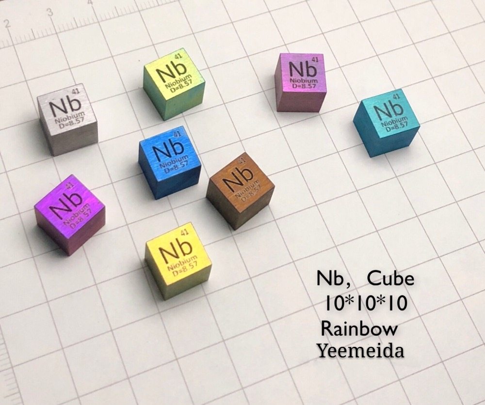 Купить с кэшбэком Niobium Metal 10mm Density Cube 99.95% Pure for Element Collection