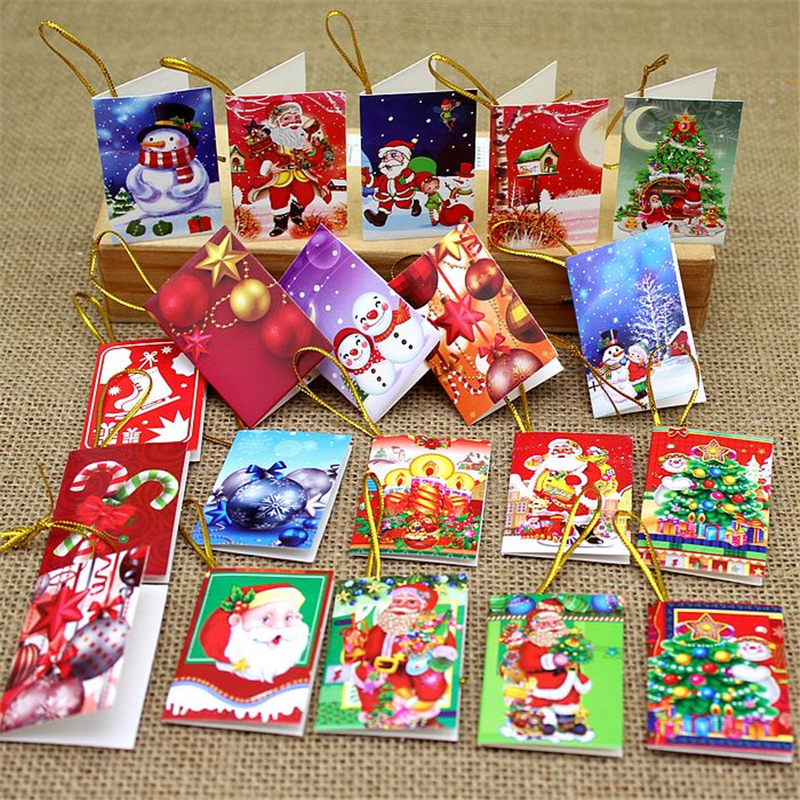 64Pcs Christmas Tree Decoration Card Christmas Wish Cards
