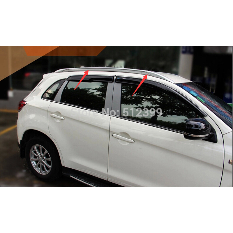 High Quality Silver Color Roof  Rack Rails Bars For Mitsubishi ASX / outlander sport 2013 2014 ( NOt for outlander) teaegg top roof rack side rails luggage carrier for hyundai tucson ix35 2010 2014