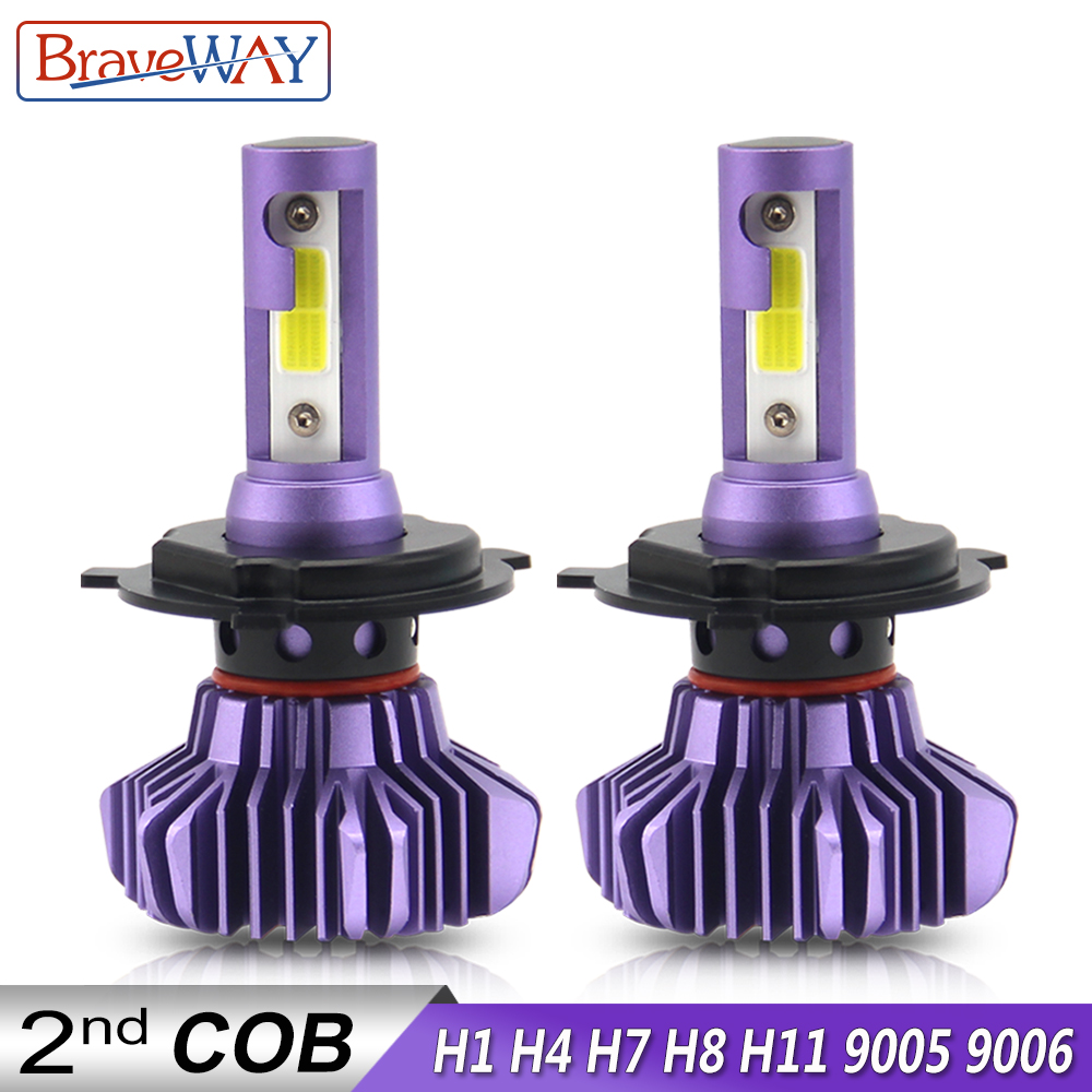 BraveWay H4 Led Bulbs H1 H3 H11 H7 LED H8 Ice Lamp For Atuo Diode Lamps For Cars HB4 9006 HB3 9005 LED 12000LM 12V Light Bulb H4