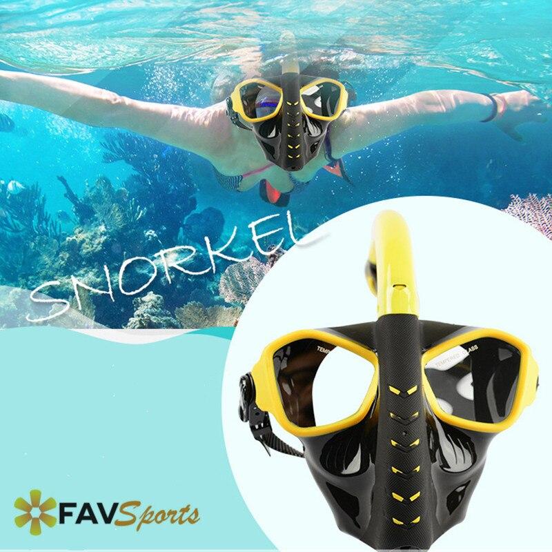 Masque de plongée sous-marine complet masque de plongée Anti-buée masque de plongée amovible pour caméra Gopro