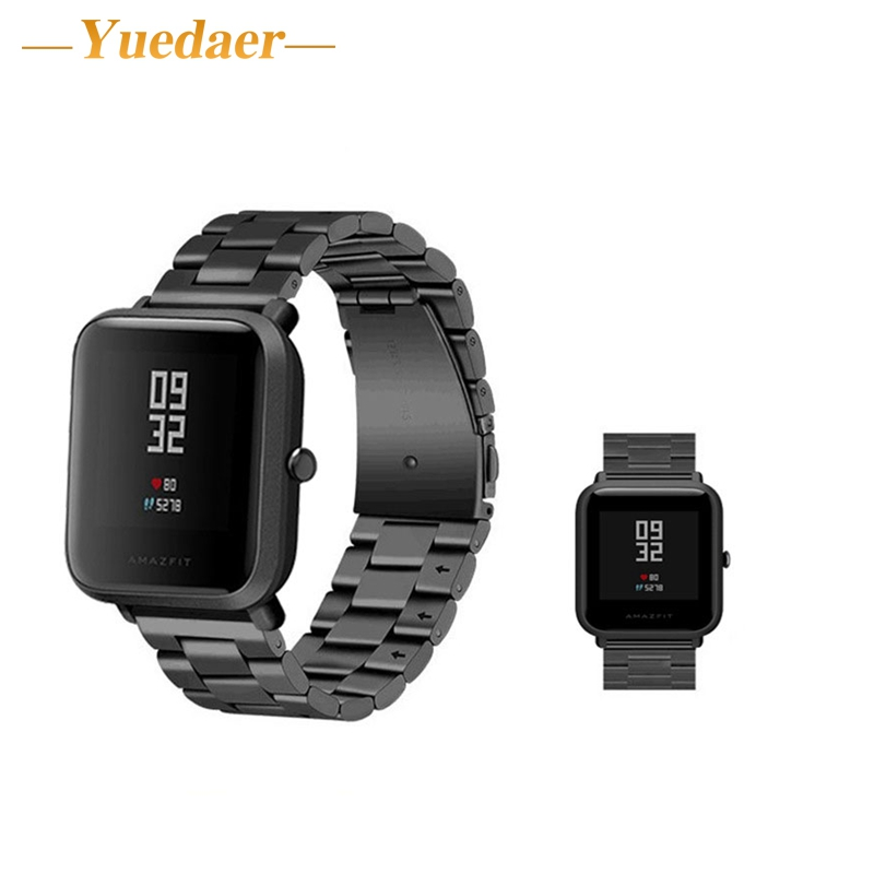 yuedaer stainless straps for xiaomi huami amazfit Bip BIT PACE Lite Youth Smart Watch 20mm luxury business watchband bracelet